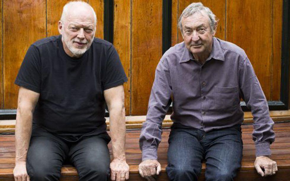 David Gilmour, guitarrista y cantante, y Nick Mason, batería, de Pink Floyd, en noviembre de 2014.
