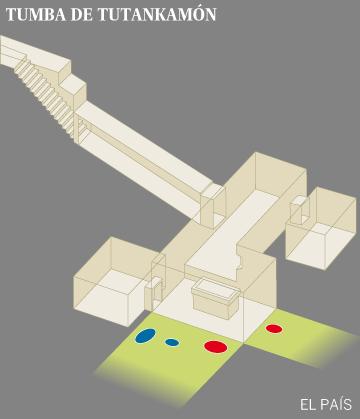 La tumba de Tutankamón tiene dos cámaras secretas que contienen metal y material orgánico