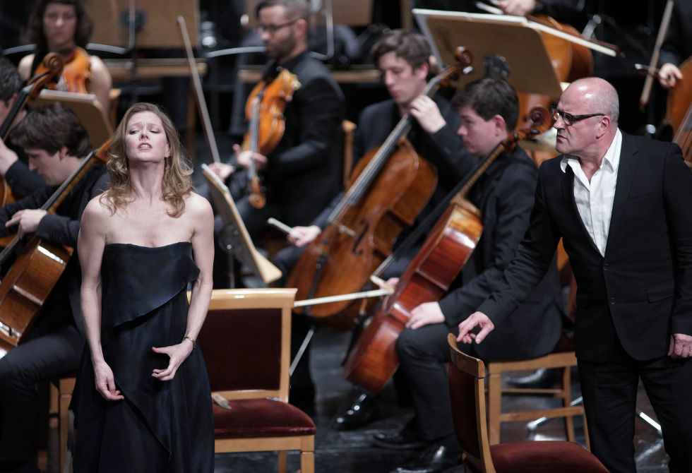 La soprano Barbara Hannigan y el barítono Christopher Purves.