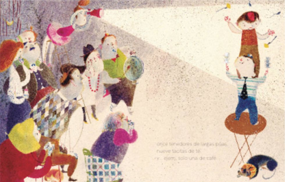 Ilustración de 'Una vajilla impar'.