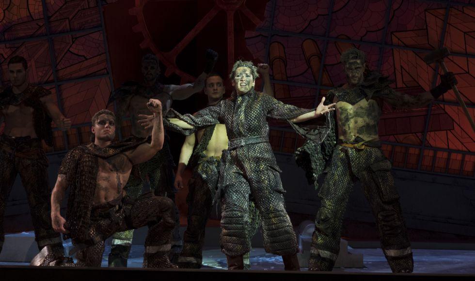 Un momento de El imposible mayor en amor, le vence amor', en el Teatro de la Zarzuela.