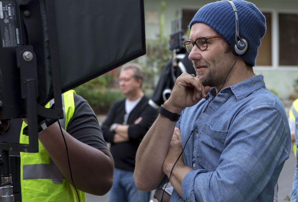 Joel Edgerton, durantel el rodaje de 'El regalo'.