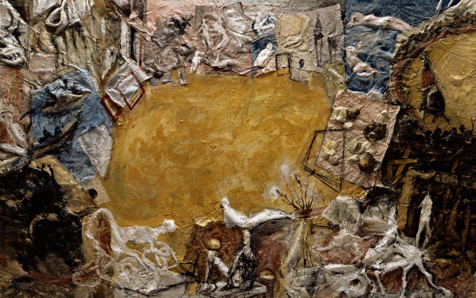 Una de las obras expuestas en la doble muestra de Barceló en París.