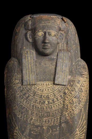 Sarcófago de Unnefer, una de las piezas estrella de la exposición sobre Osiris.