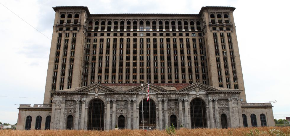 La abandonada Michigan Central Station, en Detroit.