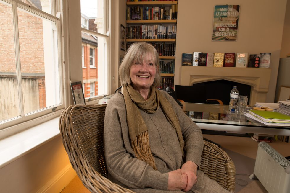 Barbara Trapido, durante la entrevista en la sede de la agencia literaria A. M. Heath en Londres.