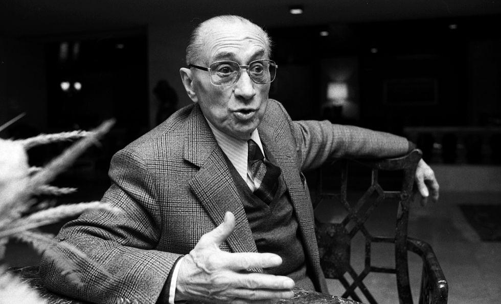 El político Julián Gorkin, en 1979.