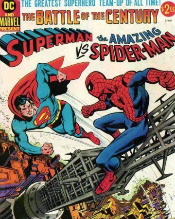 Los superhéroes se pelean por la caja