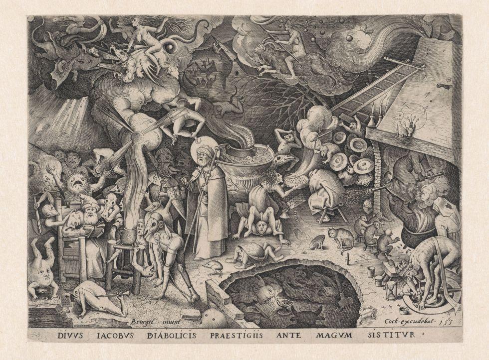 Uno de los grabados de Bruegel que creó escuela iconográfica.