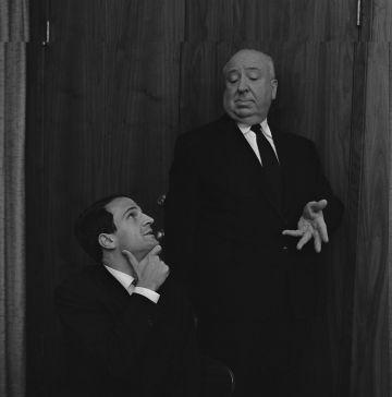 Truffaut y Hitchcock, en la sesión de fotos que hicieron tras la entrevista de seis días en 1962, retratados por Philippe Halsman.