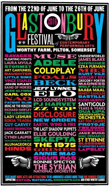Glastonbury 2016: Adele, Coldplay y Muse encabezan el cartel