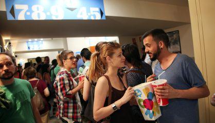 Espectadores de un cine madrileño durante la Fiesta del Cine, en 2015.