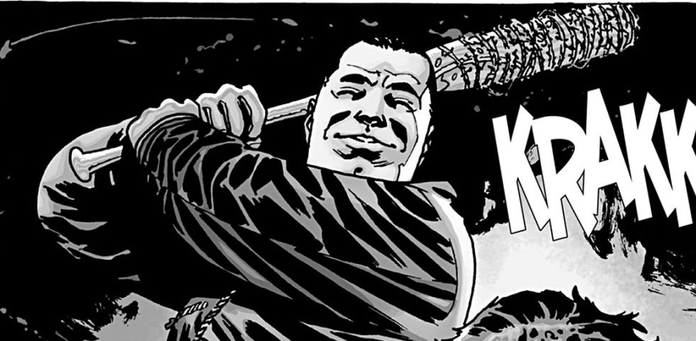 Negan, en los cómics de 'The Walking Dead'.