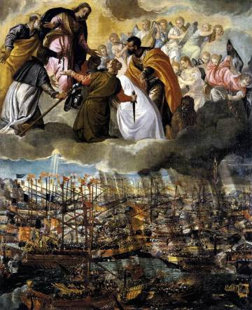 La obra 'La batalla de Lepanto'.