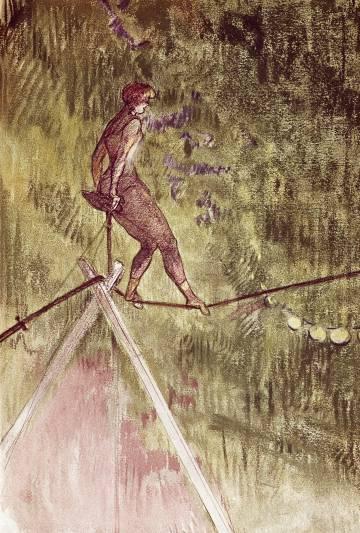 Un equilibrista, visto por Toulouse Lautrec.