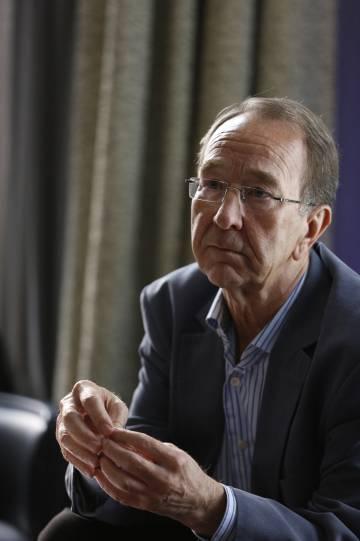 El historiador inglés Ian Kershaw, este lunes en Madrid.