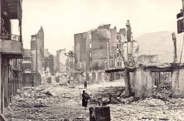 Gernika, tras el bombardeo de abril de 1937.