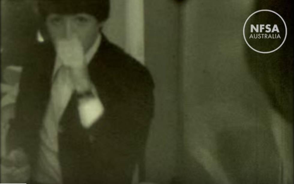 Fotograma do vídeo inédito publicado pelo arquivo australiano.