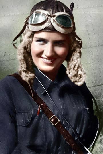 A aviadora russa Marina Raskova.