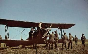 Avião das Bruxas da Noite capturado pelos alemães.