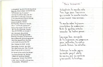 """""""Para Sebastián"""", uno de los poemas del Cuaderno de Rawson"""