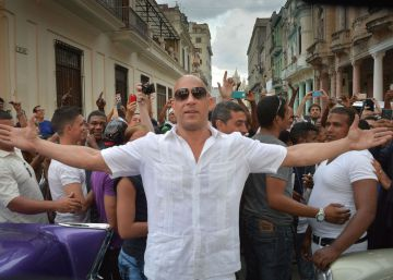 Vin Diesel, a su llegada al desfile de Chanel en La Habana.