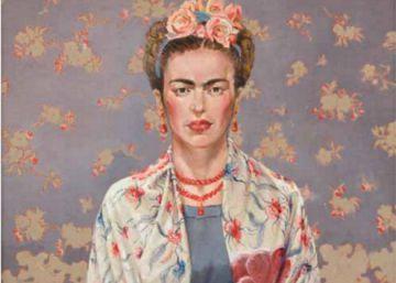 Frida Kahlo con mantón de Manila