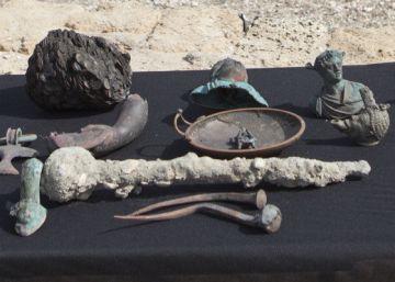 Halladas estatuas de bronce y miles de monedas de hace 1.600 años en Israel