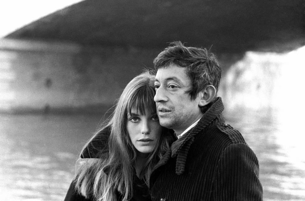 Jane Birkin y Serge Gainsbourg.