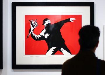 Banksy, el grafitero antisistema, entra en un palacio de Roma