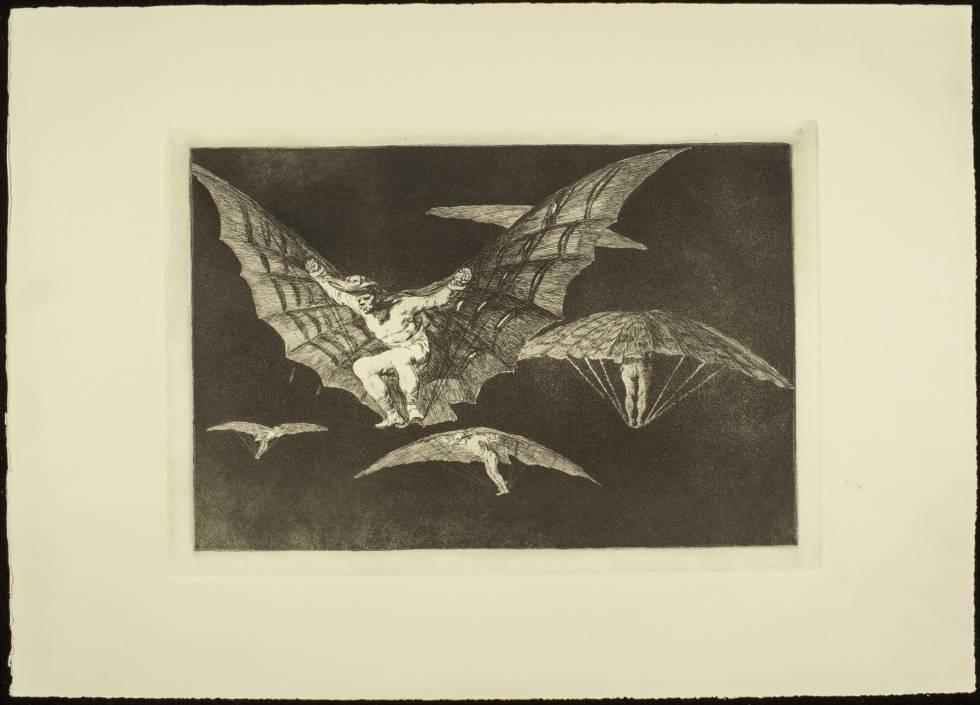 Disparate n°13 'Modos de volar', de Francisco de Goya.