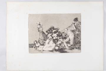 Aguafuerte 'Y son fieras', de la serie 'Desastres de la guerra'.
