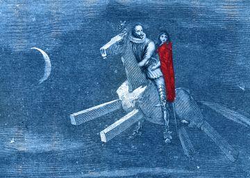 Cervantes, a lomos de Clavileño