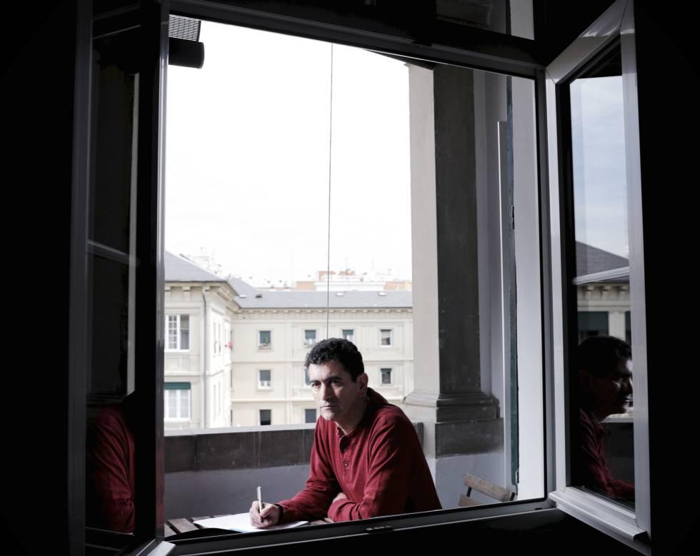 Juan Mayorga, en su casa de Madrid.