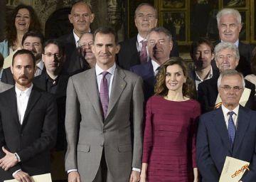 """El Rey pide """"el mayor respaldo"""" para los creadores culturales"""