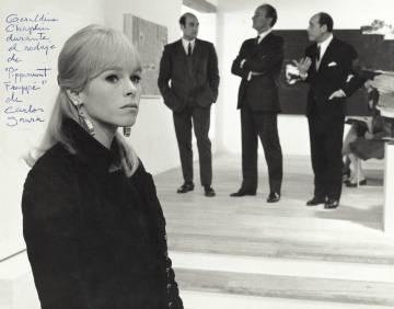 Geraldine Chaplin durante el rodaje (1967) de Peppermint Frappé, de Carlos Saura.