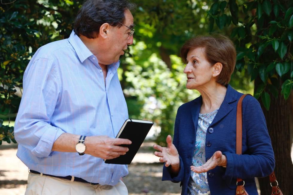 Francesc de Carreras y Adela Cortina, este sábado en Madrid.