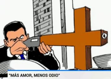 TVE se disculpa por emitir una viñeta de un fusil en forma de cruz