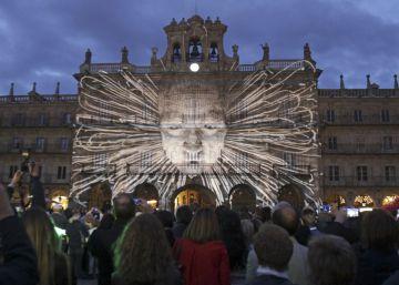 Salamanca transforma algunos de sus emblemas en lienzos de vanguardia