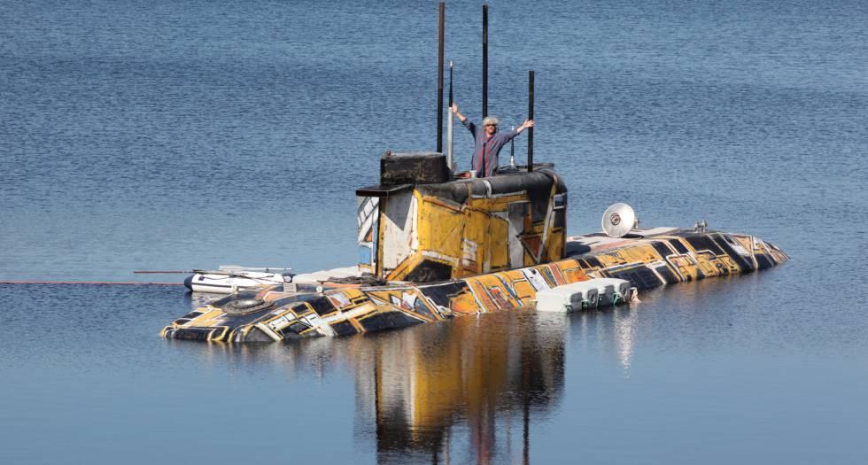 Ponomarev en su submarino.