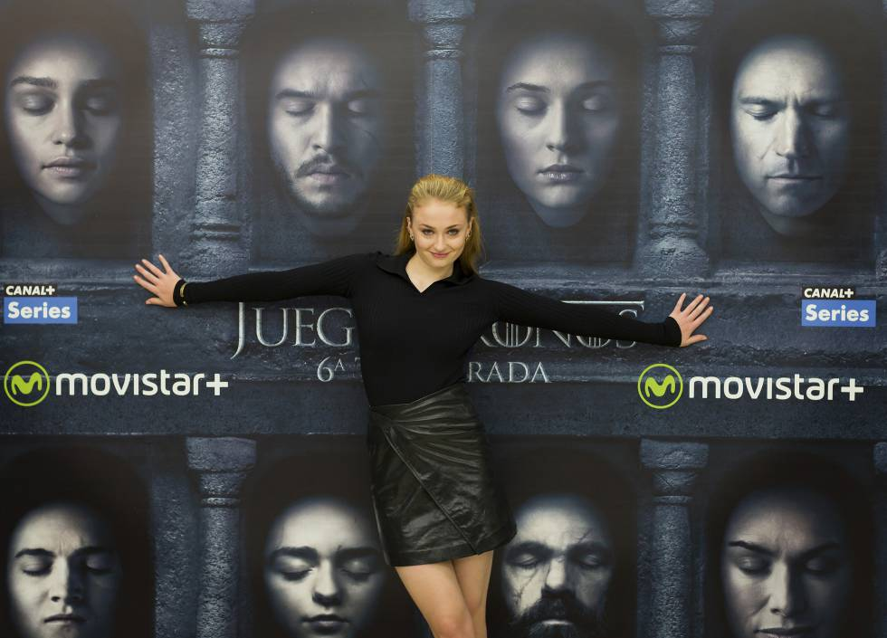 Sophie Turner, en Madrid.