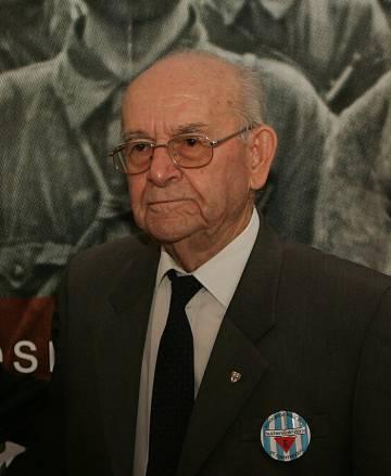 Virgilio Peña, en una imagen de 2005 en la exposición 'Imágenes y Memoria de Mauthausen', en Sevilla.