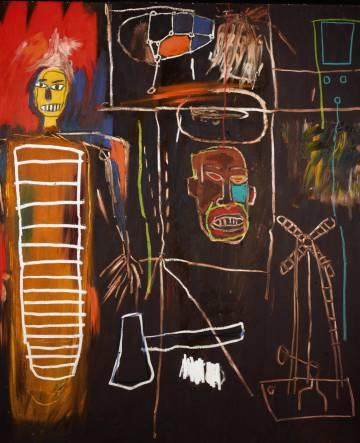 'Air Power' (1984), de Jean-Michel Basquiat, perteneciente a la colección de David Bowie, estimado en 2,5 millones de libras (3 millones de euros).