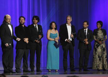 """Los ganadores de la película colombiana """"El Abrazo de la Serpiente""""."""