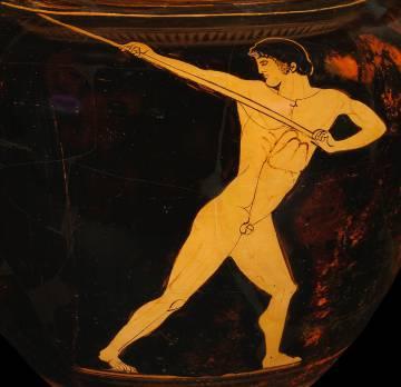 Dibujos de una vasija de la antigua Grecia, del Museo Olímpico de Lausana.