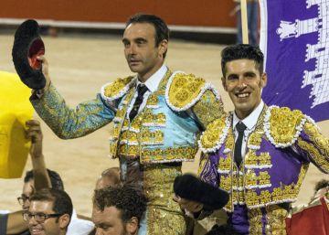 Ponce, Talavante y Manzanares reivindican los toros en Palma