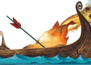 El mejor entierro: un barco vikingo en llamas