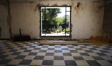 Obras en el nuevo estudio de la paisajista Dominique Lafourcade.