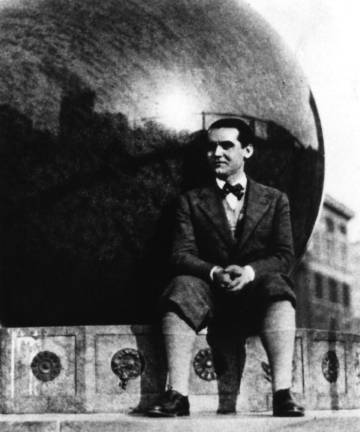 Federico García Lorca en la Universidad de Columbia de Nueva York.