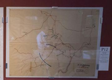 Mapas de guerra sobre el río Ebro